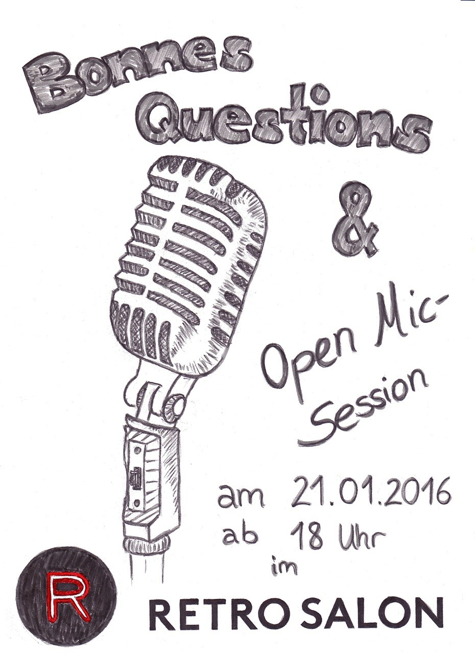 Retrosalon + Bonnes Questions + Open Mic