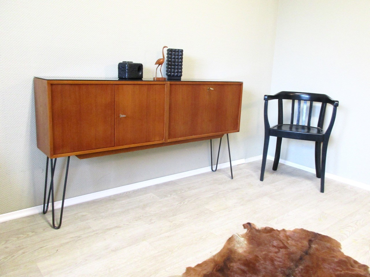 sold mid century sideboard mit bar retro salon cologne. Black Bedroom Furniture Sets. Home Design Ideas