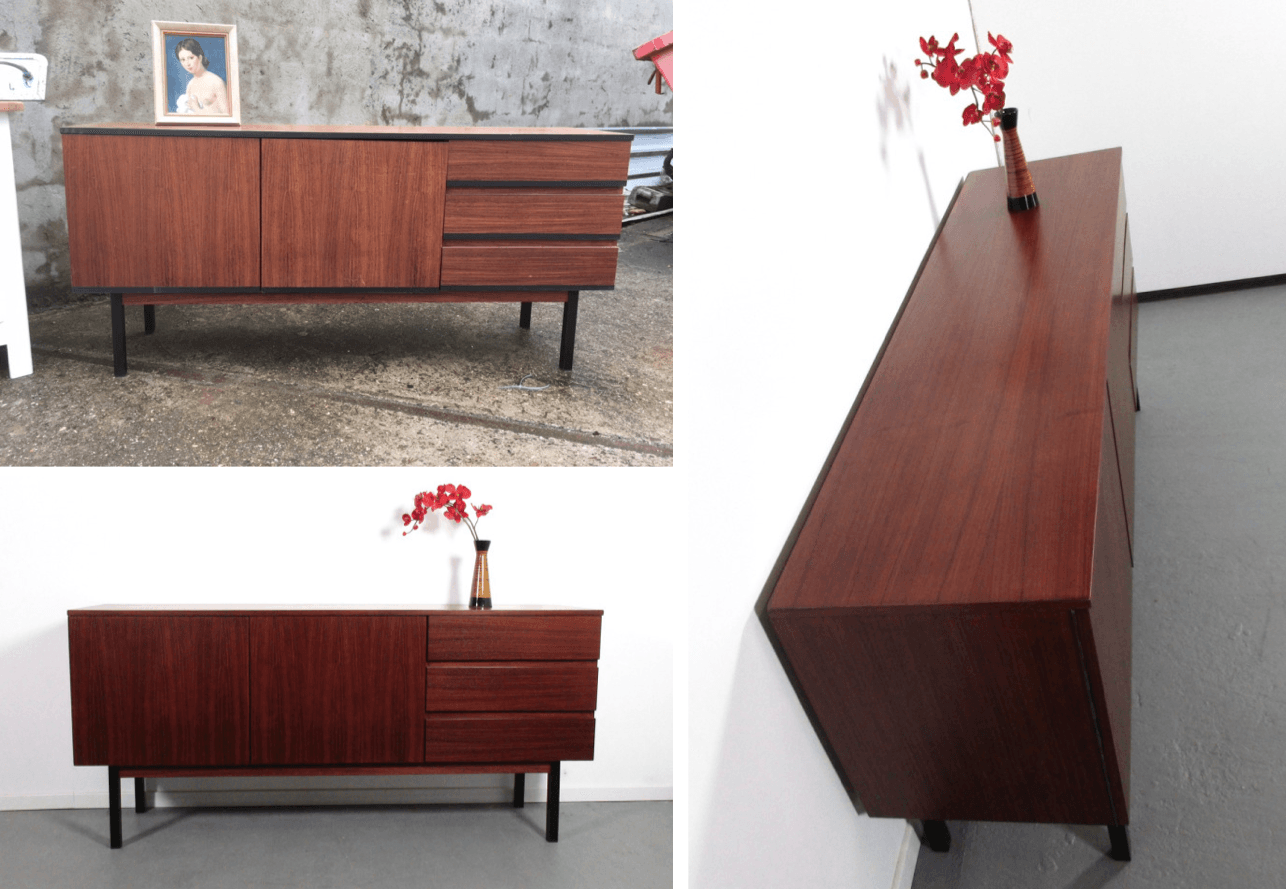 auftrag palisander sideboard retro salon cologne. Black Bedroom Furniture Sets. Home Design Ideas