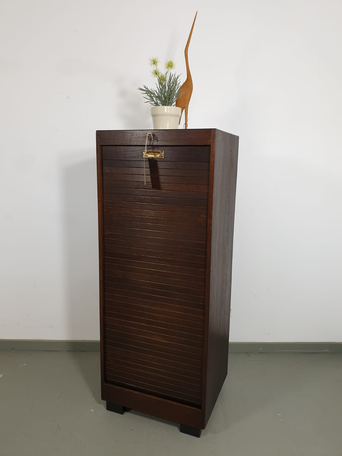 Sold Rolladenschrank Aus Holz Retro Salon Cologne